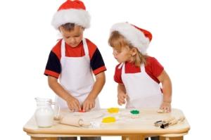 Preparing the christmas cookies