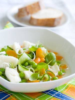 ... met lentegroenten (fish soup with spring vegetables) | Dutch Community