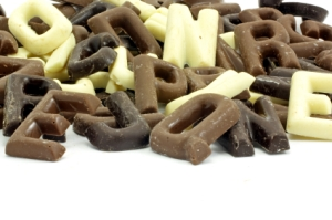 Dutch chocolate letters