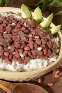 bruine bonen met rijst recipe