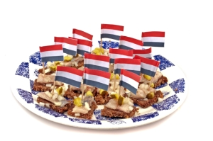 Dutch raw herring dishes