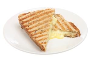 Cheese and banana toasty