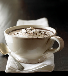hot chocolate made from raw cacao