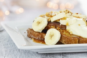 Dutch recipe for French toast with banana