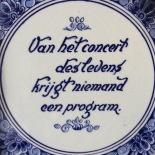 Dutch tile sayings